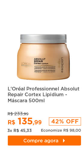 L'Oréal Professionnel Absolut Repair Cortex Lipidium Instant Reconstructing Masque - Máscara 500ml