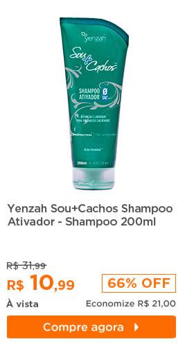 Yenzah Sou+Cachos Shampoo Ativador - Shampoo 200ml