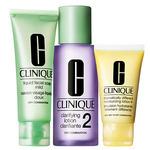clinique sistema 3 passos pele 2 - mista para seca great skin ...
