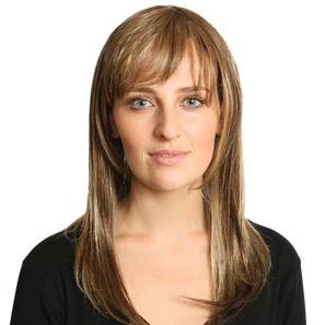 Hairdo Franja - Castanho Com Mechas Douradas R8 / 25 - Hairdo