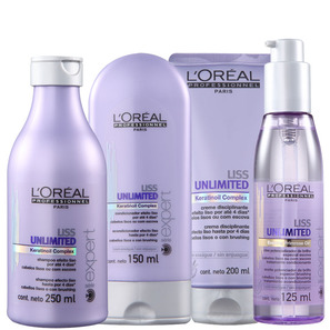 L'Oréal Professionnel Liss Unlimited Discipline Shine Kit (4 Produtos)