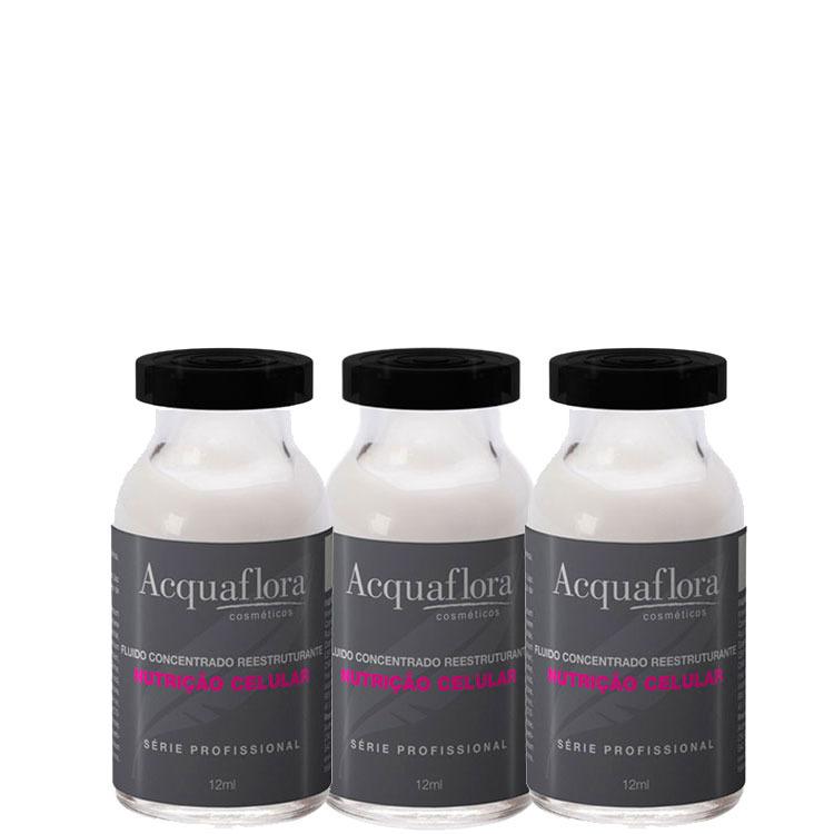 thumb Acquaflora Nutrição Celular Tratamento - Ampola de Tratamento 3x12ml