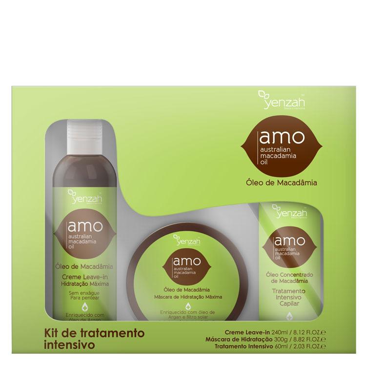 thumb Yenzah Amo Australian Macadamia Oil Kit de Tratamento Intensivo (3 Produtos)