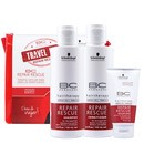 bonacure repair rescue travel kit (3 produtos + nécessaire)